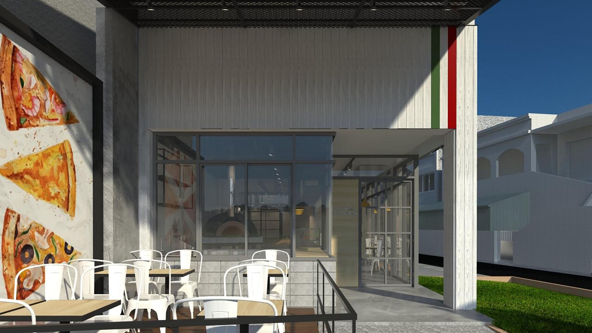 商空設計,pizza店設計,餐廳設計,餐廚空間設計,工業風,商業空間,義大利麵,義式比薩店,義式餐廳設計,義式料理,